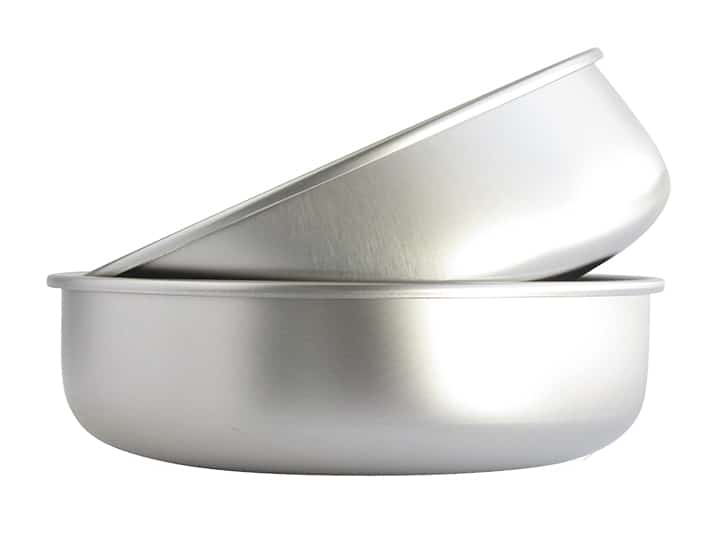 A Translucent Blue Plastic Bowl that is Goldendoodle Tested and Safe