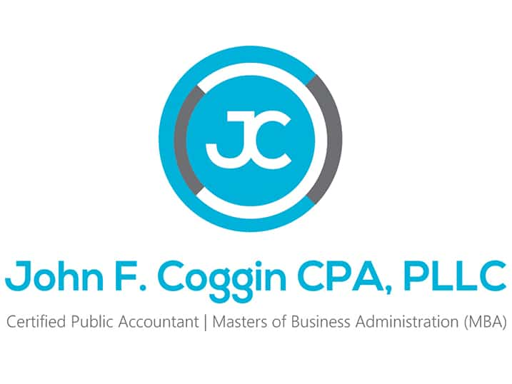Blue Emblem with the Letters JC in White with CPA Firm Name Beneath It Also in Blue